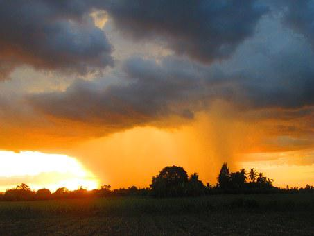 Evening Sun, Rain Cloud, Rain, The Heavy Sky, Geography