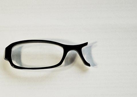 Glasses, Broken, Black, Lens, Vision, Eyeglasses, Frame