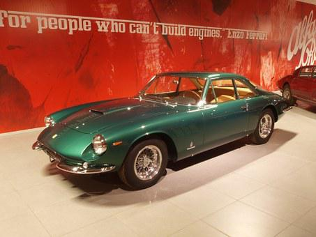 Ferrari 500, 1965, Car, Automobile, Engine