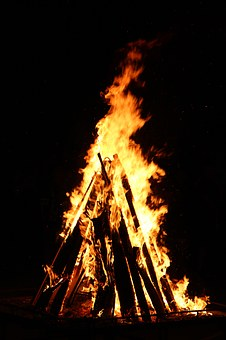 Fire, Wood, Campfire, Flame, Festival, Night, Play