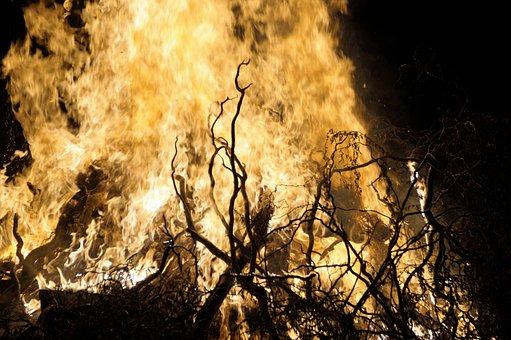 Fire, Flames, Bonfire, Burning, Border, Baking, Witch