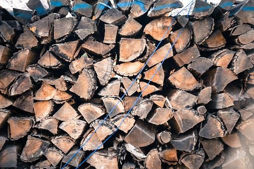 Cut Down, Background, Bark, Combustible, Firewood, Fuel