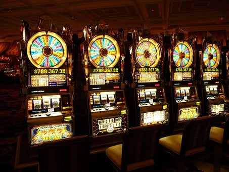 Gambling Machine, One Armed Bandit, Money, Las Vegas