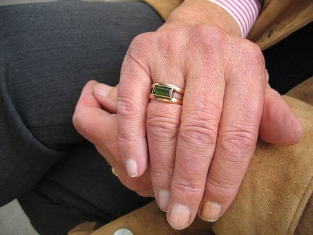 Fold, Hand, Finger, Ring, Woman, Old, Age