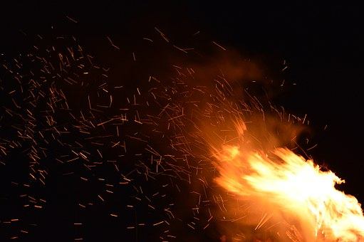 Fire, Sparks, Flame, Fire Background, Heat, Hot, Burn
