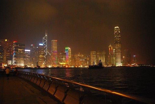 Night, Hong Kong, Buildings, The Skyscraper