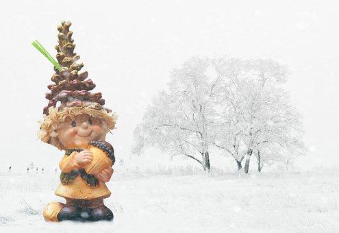 Imp, Snow, Landscape, Wintry, White, Decoration
