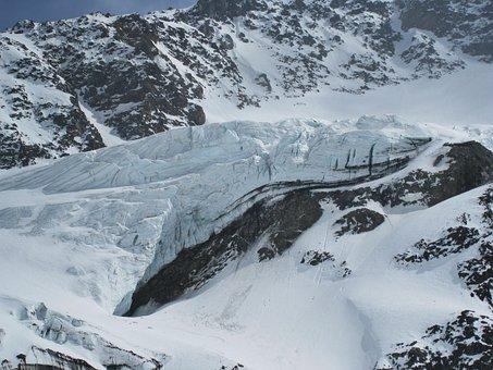 Kaunertal Glacier, Glacial Ice, Eternal Ice, Glacier