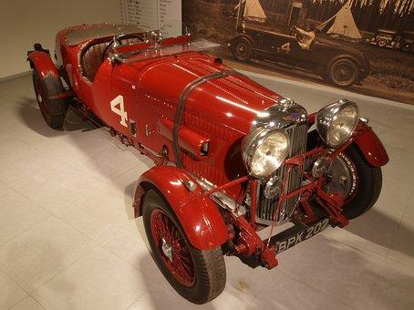 Lagonda, 1935, Car, Automobile, Engine