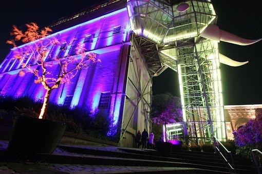 Light Art, Architecture, Illuminated, Colorful, Color
