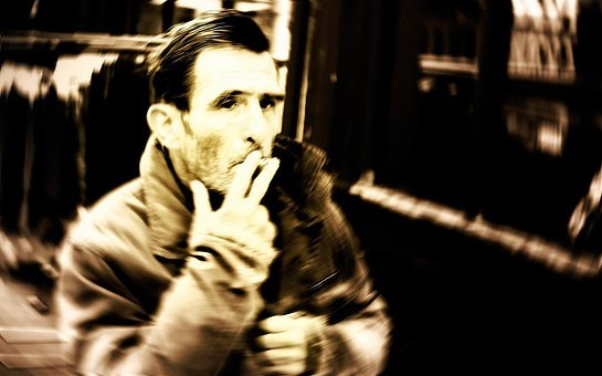 Old, People, Light, Effect, Cigarettes, Background, Man