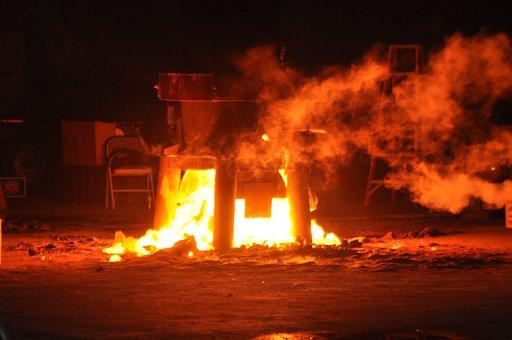 Fire, Molten, Metal, Furnace, Foundry, Metallurgy