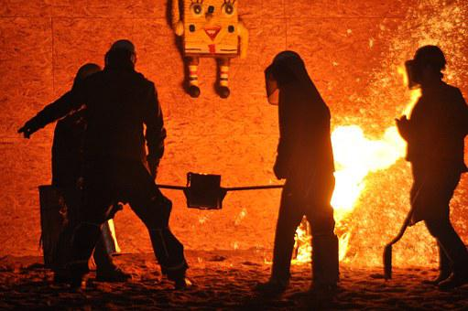 Fire, Molten Metal, Metallurgy, Foundry, Steel, Hot