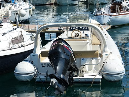 Powerboat, Boot, Motor, Port