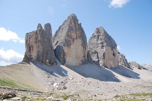 Three Peaks Of Lavaredo, Mountain, Trentino, Italy, Sky