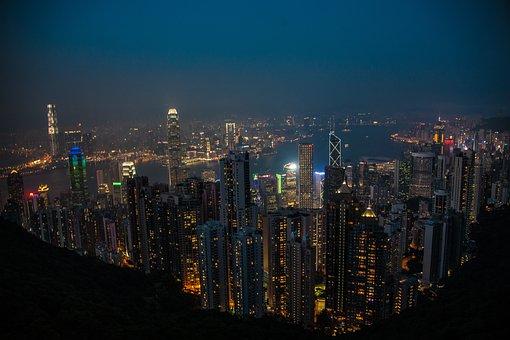 Hong Kong, Night, Victoria Peak