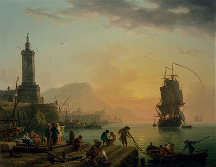 Claude Vernet, Painting, Oil On Canvas, Artistic