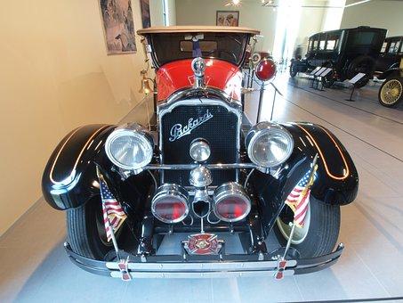 Packard, 1926, Car, Automobile, Engine
