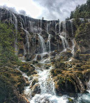 Jiuzhaigou, Pearl Beach Waterfall, Journey To The West