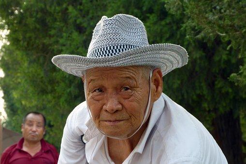 People, Chinese, Karakterkop, Hat, China, Old