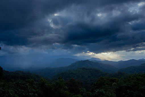 Blue Khruem, Rain, Sky, Rain Cloud, The Air Is Not Good