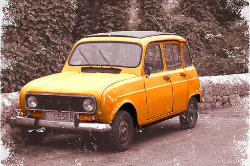 Car, Renault, Vintage, Vintage Automobiles, R4, Old
