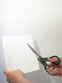 Cut, Paper, Scissors, Hand, A4, Shred, Crafty
