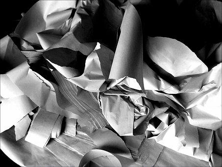 Paper, Shredded, Shredder, Document, Recycling, Trash
