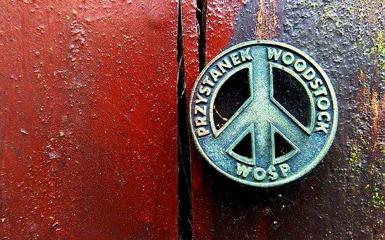 Woodstok, Stamp, Metal, Sign, Przystanek Woodstok