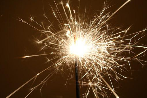 Sparkler, Sylvester, Light, New Year's Eve, Radio, Fire