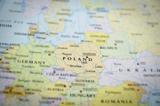 European Union, Europe, Travel, Poland, Map, Country