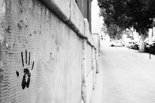 Imprint, Wall, Print, Hand, Design, Pattern, White
