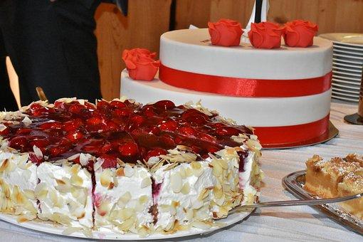 Wedding Cake, Cake, Rose, Ornament, Berry Cake