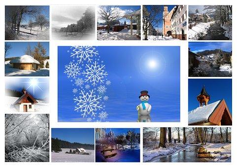 Greeting Card, Winter, Snow, Winter Dream, Snowy, White