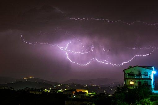 Earth Hour, Lightning, Spain, Andalucia