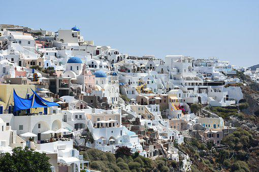 Santorini, Greece, Island, Architecture, Blue, Oia
