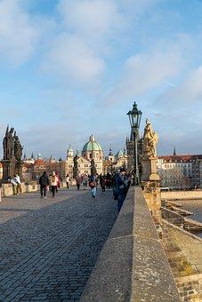 Prague, Bridge, Praha, City, Architecture
