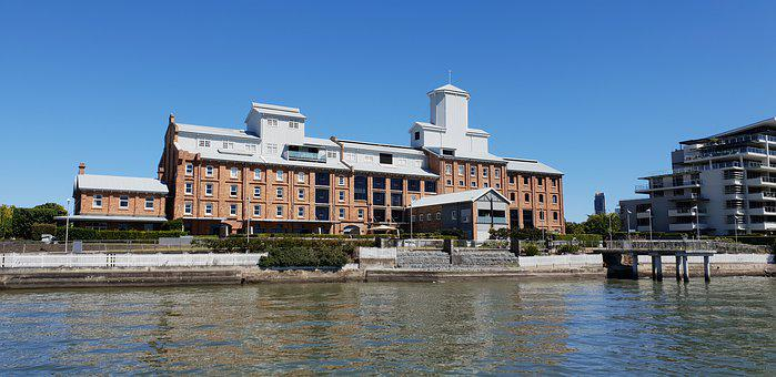 Brisbane River, Building, Historic, City, Australia