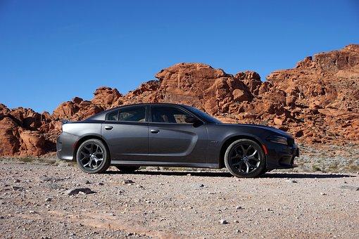 Nevada, Mountains, Auto, Car, Muscle Car, Dodge
