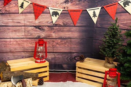 Backdrop, Bench, Woods, Cabin, Antique, Surface, Design