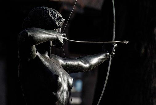 Archery, Sculpture, Bow And Arrow