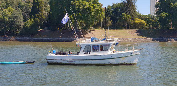 Brisbane River, Boat, Home, Water, House, Outdoor
