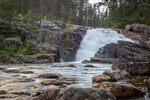 Rapids, Finland, Lapland, Landscape, Camping, River
