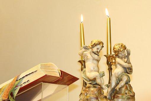 Angels, Candles, Church, Angel