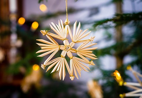 Strohstern, Christmas, Christmas Tree