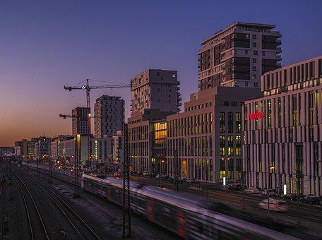 Architecture, Morning, Sunrise, City