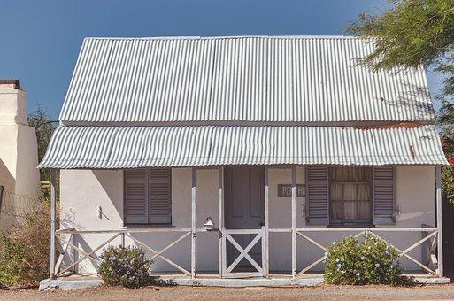 House, Cottage, Quaint, Rustic, Vintage, Fence, White