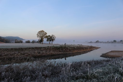 Elbe, Frost, Winter, River, Cold, Landscape, Water