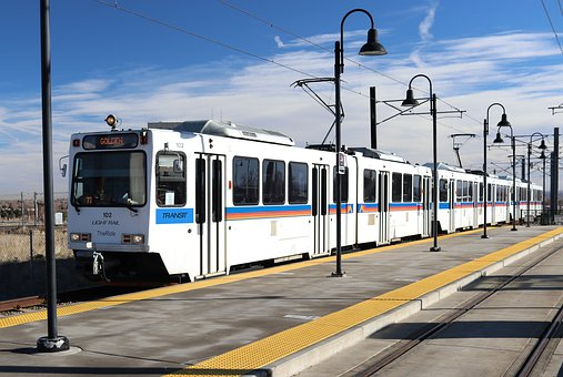 Light Rail Train, Denver Colorado, Electric Train