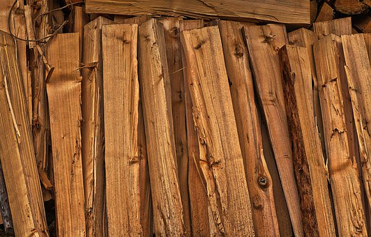 Firewood, Stacked, Wood For The Fireplace, Strains